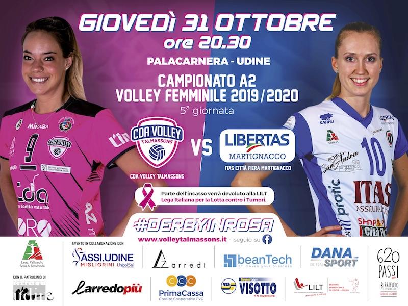 Derby in Rosa CDA Talmassons vs Itas Città Fiera Martignacco