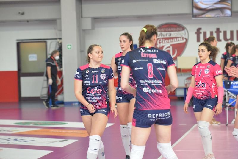 Futura Volley Giovani Busto Arsizio vs CDA Talmassons 3a1: Esordio di Rebecca Feruglio in A2