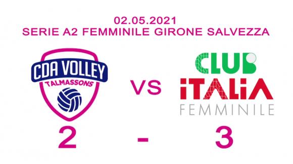 Cda Talmassons vs Club Italia Crai 2a3 La Sintesi